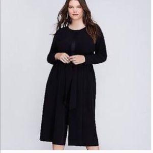 Lane Bryant wide leg culotte jumpsuit